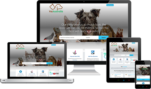 Vet Australia displayed beautifully on multiple devices
